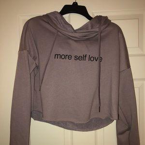 More Self Love cropped hoodie